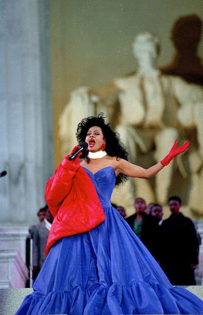 """<p>The singer performed at the Lincoln Memorial for the inauguration of President Bill Clinton in 1993. That same year, the Guinness World Records dubbed her the <a href=""""https://mentalitch.com/diana-ross/"""" rel=""""nofollow noopener"""" target=""""_blank"""" data-ylk=""""slk:most successful female singer in the world"""" class=""""link rapid-noclick-resp"""">most successful female singer in the world</a>, due to both her record-selling and chart-topping success. </p>"""