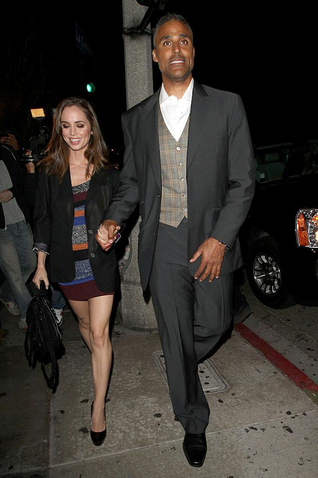 "We're sure former NBA star Rick Fox's gorgeous gal pal Eliza Dushku will cheer him on at every performance. Hellmuth Dominguez/<a href=""http://www. PacificCoastNews.com"" target=""new"">PacificCoastNews.com</a> - August 30, 2010"