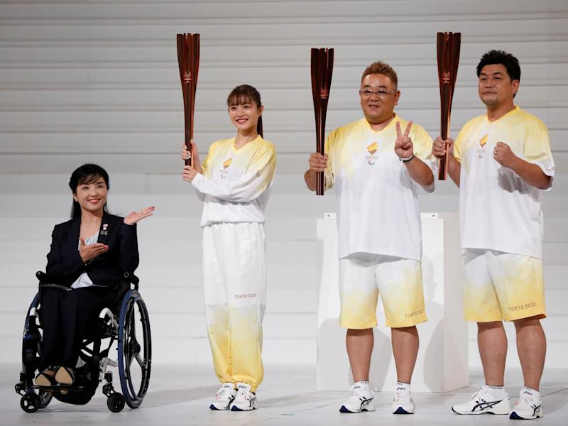 'One Year to Go' ceremony celebrating one year until the start of the Tokyo 2020 Paralympic Games in Tokyo 25 August: REUTERS