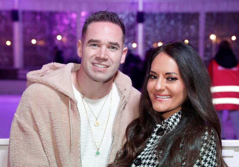 THURROCK, ENGLAND - DECEMBER 04: Kieran Hayler and Michelle Pentecost attend the Lakeside Christmas Wonderland Press Night at Lakeside Shopping Centre on December 04, 2020 in Thurrock, England. (Photo by John Phillips/Getty Images)
