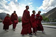 More than 900 students study at the Tibetan Buddhist College, one of the highest places of learning on Earth