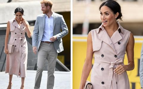 Meghan and Harry arrive to visit the Mandela exhibition