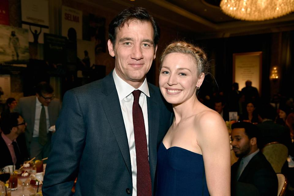 Clive Owen and Juliet Rylance attend the 15th Annual AFI Awards at Four Seasons Hotel Los Angeles at Beverly Hills.