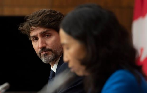 Chief Public Health Officer Theresa Tam delivers her opening remarks next to Prime Minister Justin Trudeau during a news conference in October, 2020 in Ottawa. (Adrian Wyld/The Canadian Press - image credit)