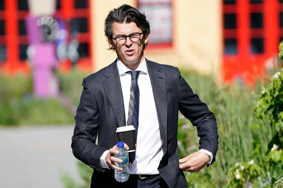 Joey Barton arriving at Sheffield crown court on Tuesday.