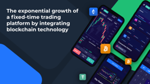 The exponential growth of a fixed-time trading platform by integrating blockchain technology