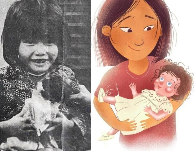 Nhung Tran-Davies received a doll as a gift when she first arrived in Edmonton as a refugee from Vietnam more than 40 years ago. The book is illustrated by Ravy Puth. (Submitted by Nhung Tran-Davies - image credit)
