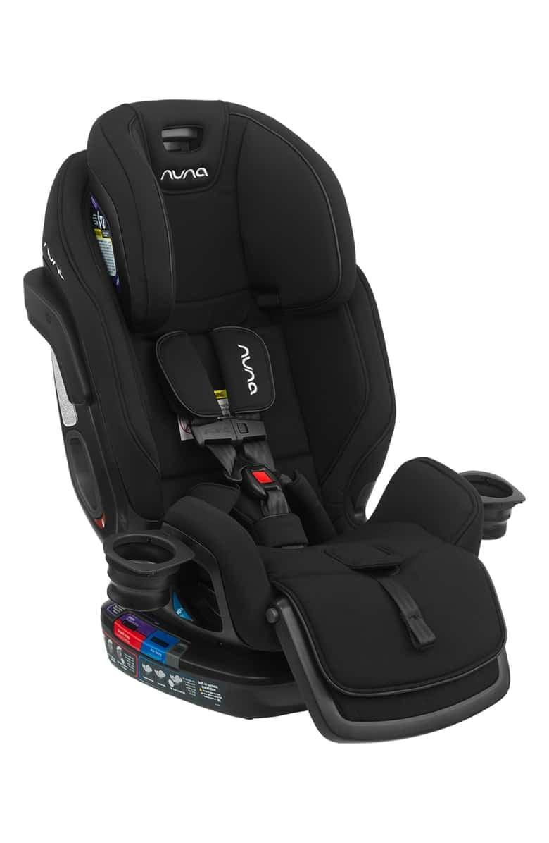 <p>The <span>nuna EXEC All-In-One Car Seat</span> ($650) grows with your baby. It goes from from rear facing newborn to rear facing infant to forward facing to booster.</p>