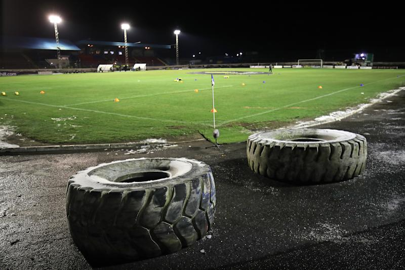 A general view of the pitch before the William Hill Scottish Cup fourth round match at Central Park, Cowdenbeath. (Photo by Jane Barlow/PA Images via Getty Images)