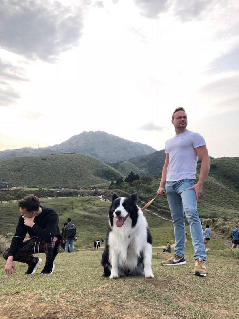Tom and a friend in Taiwan (Photo courtesy of Tom)