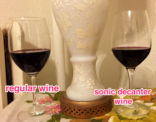 Sonic Decanter wine and 'regular' wine
