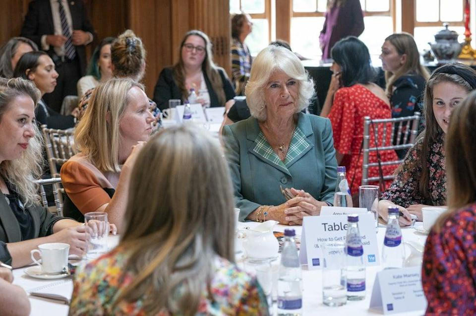 Camilla at the Women in Journalism mentoring session and panel discussion at Dumfries House (Jane Barlow/PA) (PA Wire)