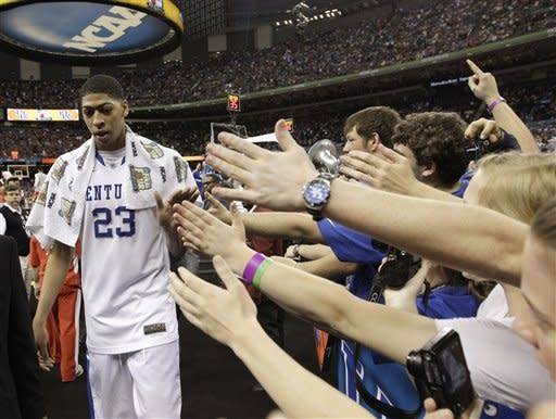 """Anthony Davis: In his only season of college basketball, the """"Unibrow"""" helped deliver John Calipari his first national championship and Kentucky its eighth. A few months later, Davis would become the No. 1 overall pick in the NBA draft. Not a bad year for someone who's yet to turn 20."""