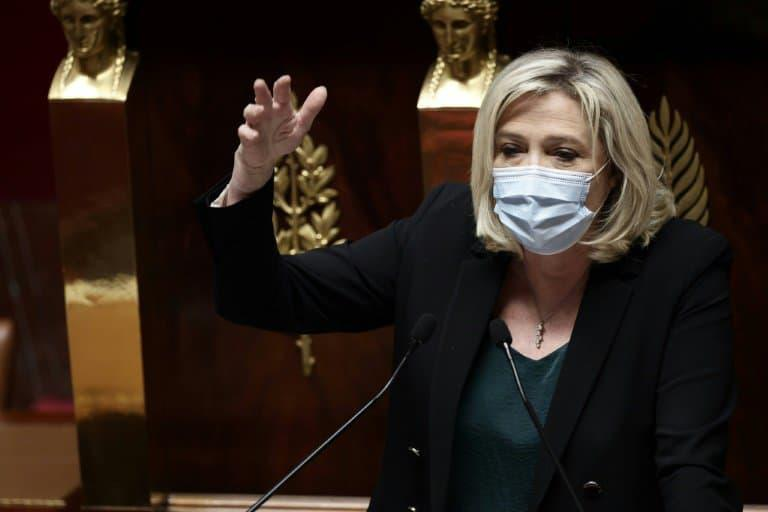 Marine Le Pen à l'Assemblée nationale le 1er avril 2021 - THOMAS COEX © 2019 AFP