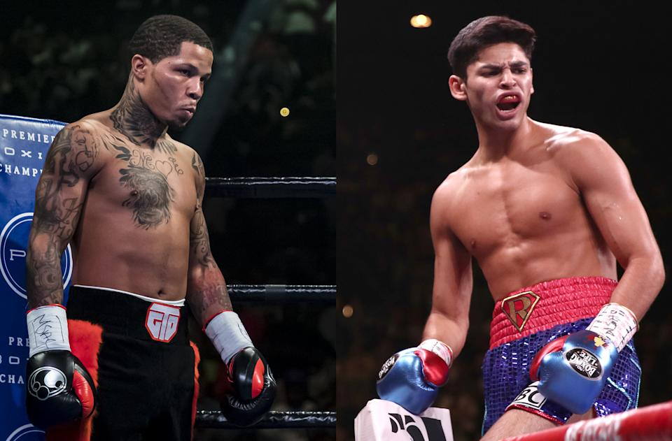 Gervonta Davis and Ryan Garcia are on a collision course in boxing's hottest division. (Getty Images)
