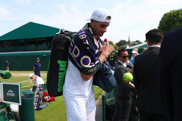 John Isner makes another early exit from Wimbledon. (Getty)