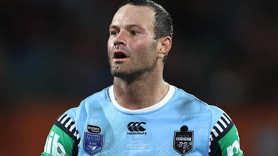 Blues captain Boyd Cordner passed a HIA after being taken from the field in the first half of Wednesday night's State of Origin season opener. (Photo by Cameron Spencer/Getty Images)