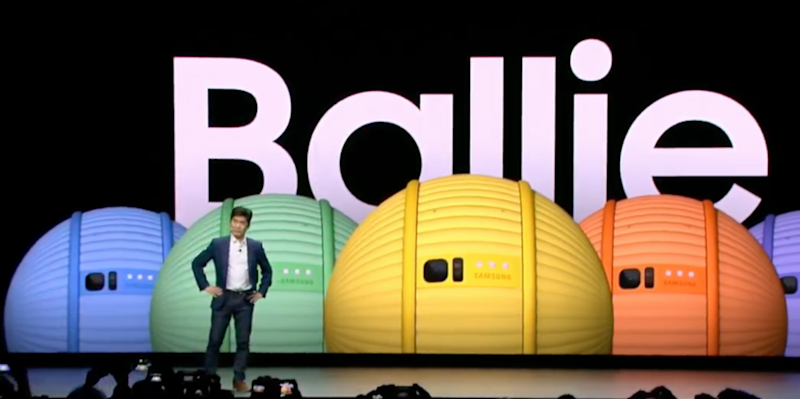 Samsung unveiled its Ballie at CES. Source: Digital Trends