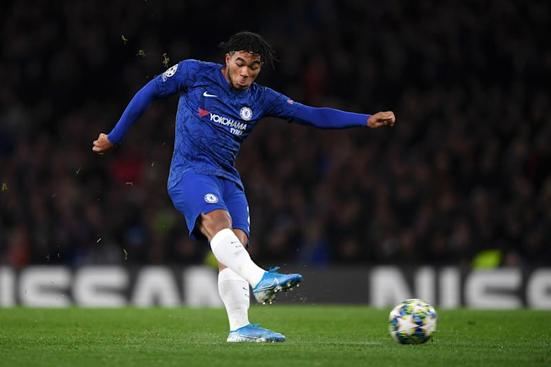 LONDON, ENGLAND - NOVEMBER 05: Reece James of Chelsea shoots during the UEFA Champions League group H match between Chelsea FC and AFC Ajax at Stamford Bridge on November 05, 2019 in London, United Kingdom. (Photo by Darren Walsh/Chelsea FC via Getty Images)