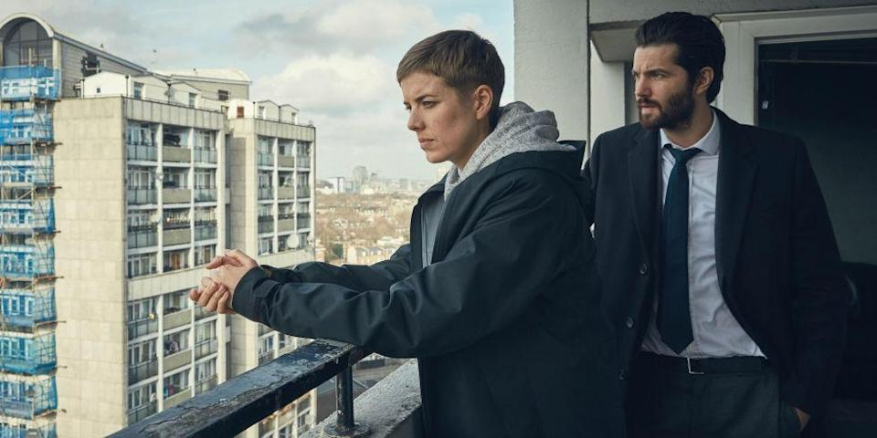 Agyness Deyn as DI Elaine Renko and Jim Sturgess as DCI Charlie Hicks (BBC One)