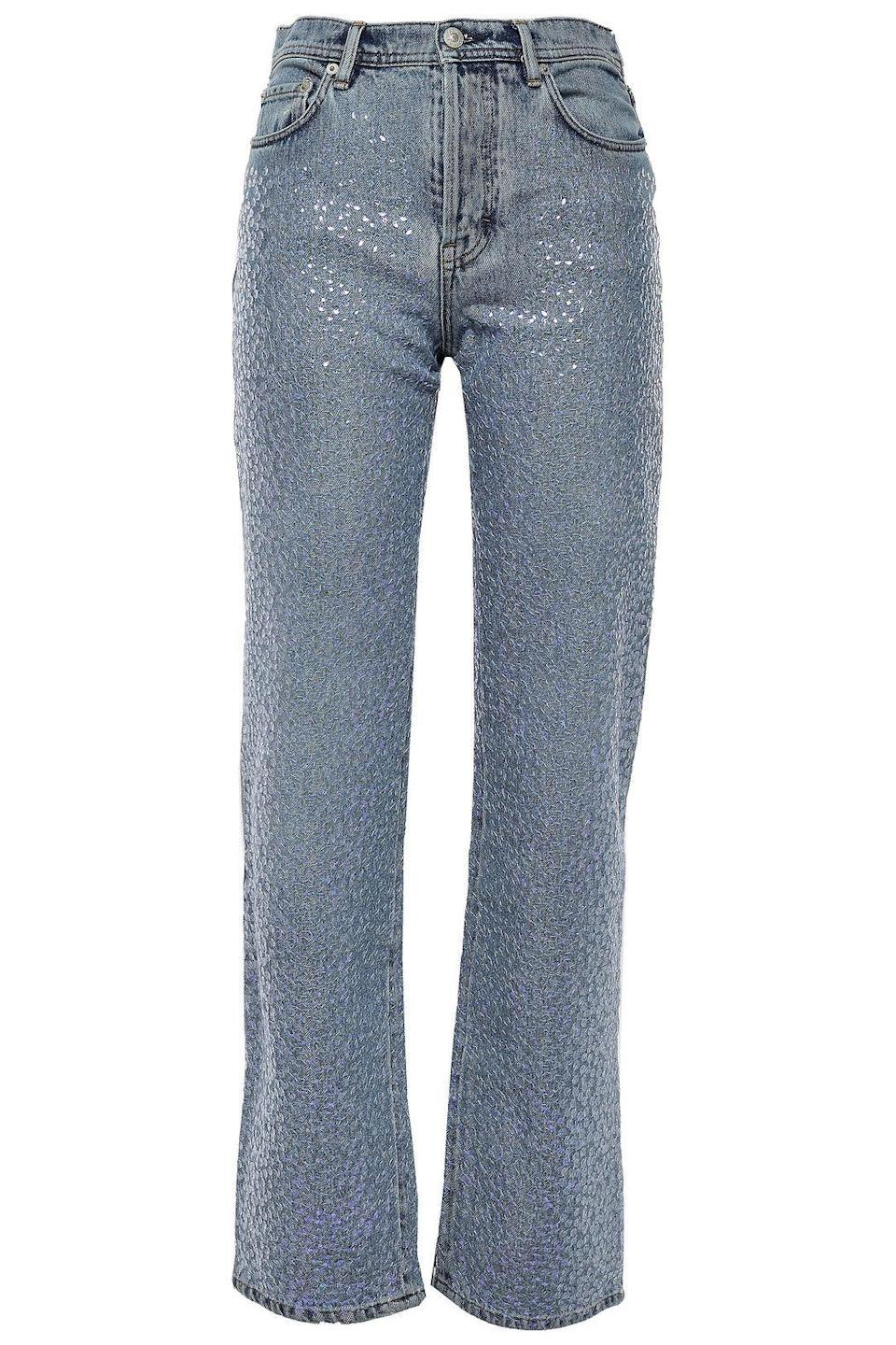 """<p><strong>ACNE STUDIOS</strong></p><p>theoutnet.com</p><p><strong>$500.00</strong></p><p><a href=""""https://go.redirectingat.com?id=74968X1596630&url=https%3A%2F%2Fwww.theoutnet.com%2Fen-us%2Fshop%2Fproduct%2Facne-studios%2Fjeans%2Fstraight-leg-jeans%2Fsequin-embellished-high-rise-straight-leg-jeans%2F4854206262886026&sref=https%3A%2F%2Fwww.elle.com%2Ffashion%2Fshopping%2Fg33595007%2Fthe-outnet-clearance-summer-2020-sale%2F"""" rel=""""nofollow noopener"""" target=""""_blank"""" data-ylk=""""slk:Shop Now"""" class=""""link rapid-noclick-resp"""">Shop Now</a></p>"""