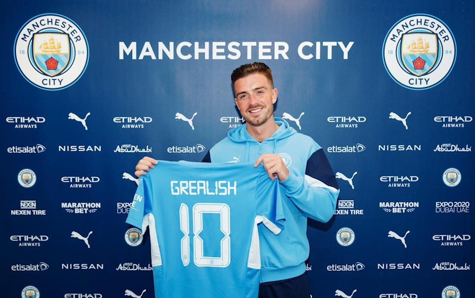 Jack Grealish becomes most expensive player in English football history after move from Aston Villa to Man City - GETTY IMAGES