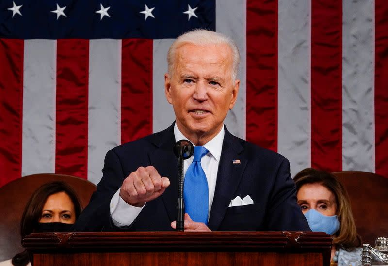 U.S. President Joe Biden's first address to a joint session of Congress