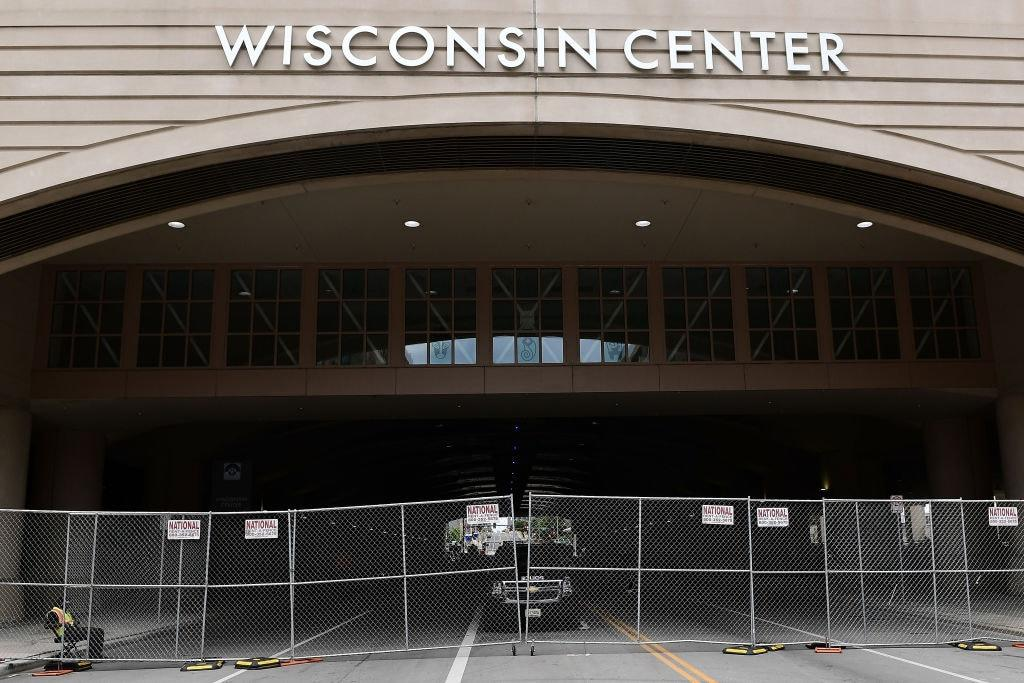 A general view of the Wisconsin Center ahead of the Democratic National Convention on August 05, 2020 in Milwaukee, Wisconsin. (Photo by Stacy Revere/Getty Images)