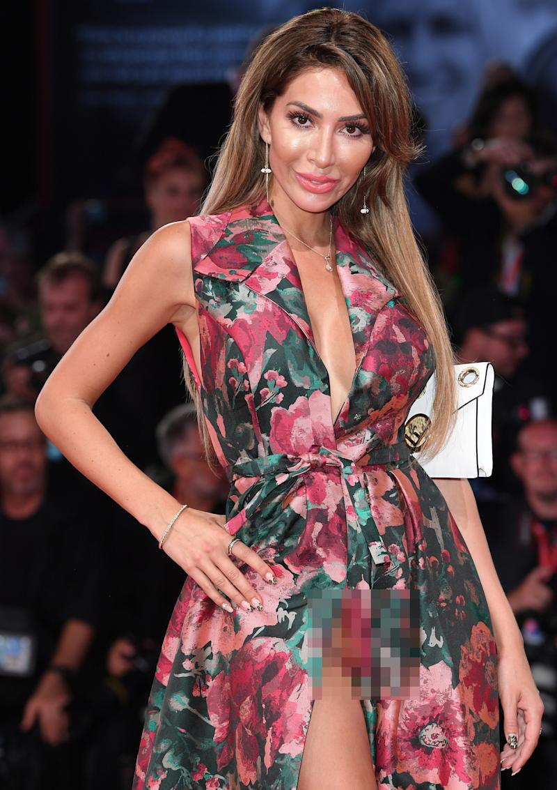Farrah Abraham's 'wardrobe malfunction' at the 'Ad Astra' premiere in Venice, Italy. Photo: Daniele Venturelli/Venturelli Daniele/WireImage)