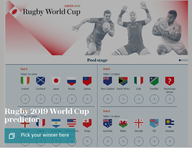 Rugby 2019 World Cup predictor