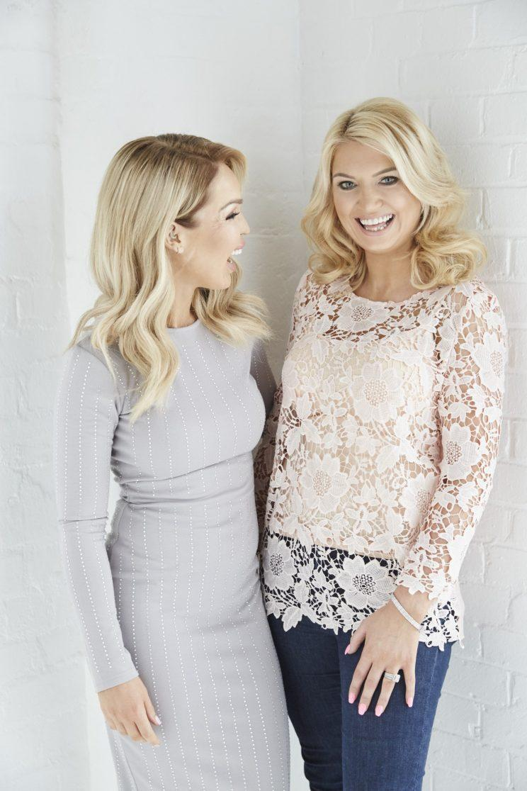 Katie is launching the range with Victoria Molyneux, Founder of Want That Trend.Com [Photo: Dan Kennedy]