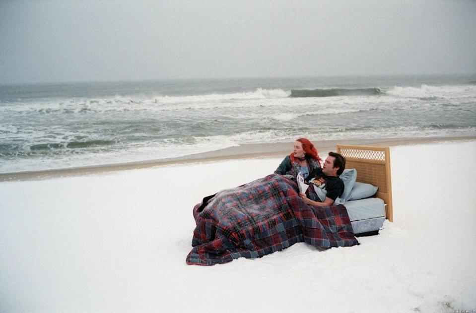 Jim Carrey and Kate Winslet are the troubled lovers in 'Eternal Sunshine of the Spotless Mind'. (Focus Features)