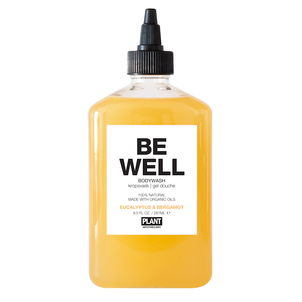 """<h3><strong>Plant Apothecary Be Well Body Wash</strong></h3><br>Upgrade your <a href=""""https://www.refinery29.com/en-us/2018/11/215244/wellness-gift-ideas"""" rel=""""nofollow noopener"""" target=""""_blank"""" data-ylk=""""slk:wellness routine"""" class=""""link rapid-noclick-resp"""">wellness routine</a> with this blend of eucalyptus and bergamot, which are used by aromatherapists and clinicians to boost the immune system, clear the sinuses, and calm the nerves. <br><br><strong>Plant Apothecary</strong> Be Well Body Wash, $, available at <a href=""""https://go.skimresources.com/?id=30283X879131&url=https%3A%2F%2Fwww.thedetoxmarket.com%2Fproducts%2Fbe-well-body-wash"""" rel=""""nofollow noopener"""" target=""""_blank"""" data-ylk=""""slk:The Detox Market"""" class=""""link rapid-noclick-resp"""">The Detox Market</a>"""