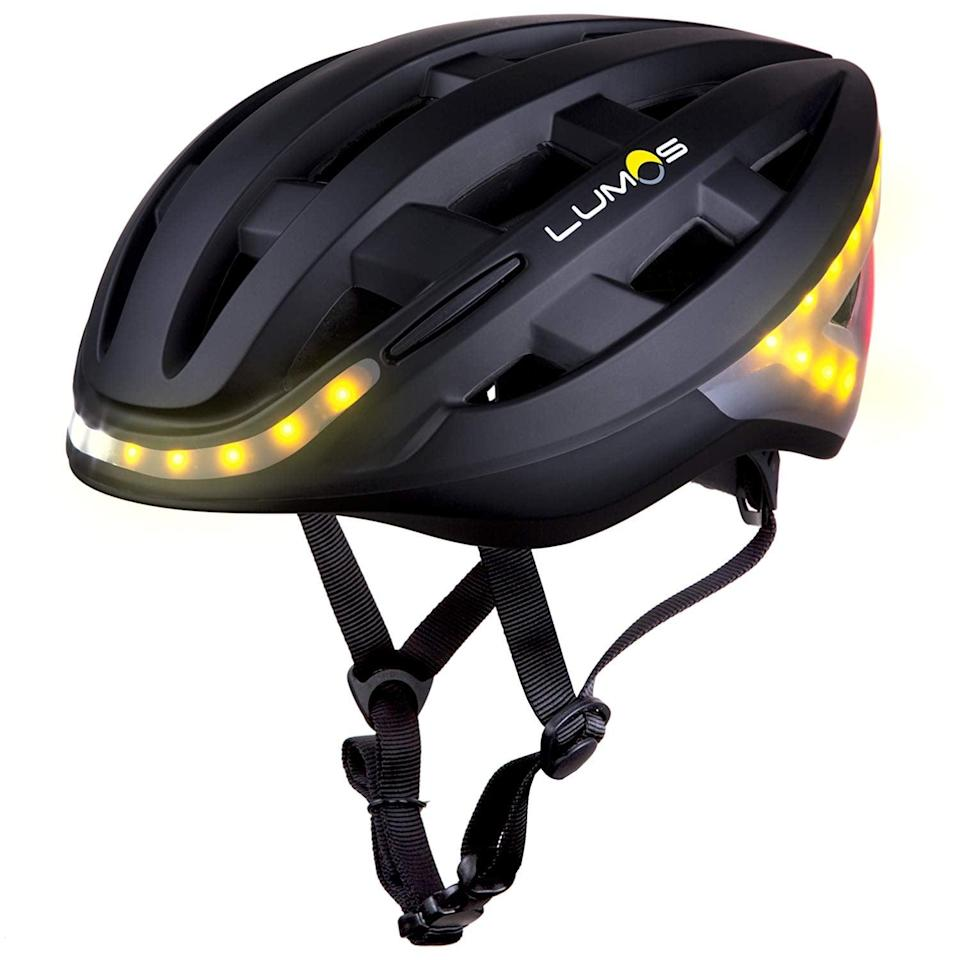 """<p>We don't know how anyone hasn't thought of this sooner, but leave it to Oprah to find the most genius products out there. The <a href=""""https://www.popsugar.com/buy/Lumos-Kickstart-Helmet-381820?p_name=Lumos%20Kickstart%20Helmet&retailer=amazon.com&pid=381820&price=140&evar1=geek%3Aus&evar9=36026397&evar98=https%3A%2F%2Fwww.popsugar.com%2Ftech%2Fphoto-gallery%2F36026397%2Fimage%2F45754542%2FLumos-Kickstart-Helmet&list1=tech%2Coprah%20winfrey%2Cshopping%2Cgifts%2Camazon%2Choliday%2Cgift%20guide%2Cdigital%20life%2Ctech%20shopping%2Ctech%20gifts%2Cgifts%20for%20women%2Cgifts%20for%20men%2Cbest%20of%202019&prop13=api&pdata=1"""" class=""""link rapid-noclick-resp"""" rel=""""nofollow noopener"""" target=""""_blank"""" data-ylk=""""slk:Lumos Kickstart Helmet"""">Lumos Kickstart Helmet</a> ($140) lights up so bikers are more visible at night, and it even has turn and brake lights so cars and pedestrians know where you're going.</p>"""