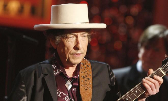 Bob Dylan performs in California in 2009.