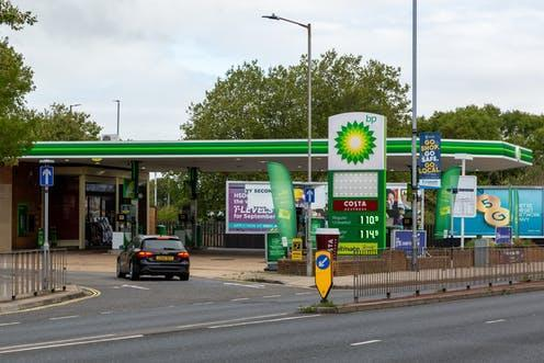 """<span class=""""caption"""">New petrol E10 is expected to cut carbon dioxide emissions</span> <span class=""""attribution""""><span class=""""source"""">Gary L Hider/Shutterstock</span></span>"""