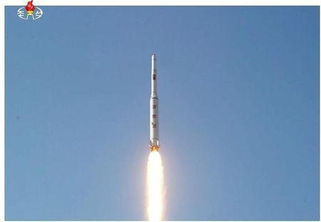 A North Korean long range rocket is launched into the air in this still image taken from KRT video footage, released by Yonhap on February 7, 2016. REUTERS/Yonhap