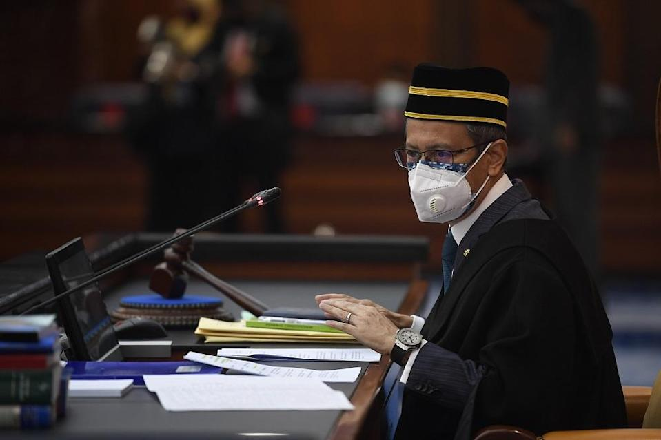 DAP secretary-general Lim Guan Eng asserted that Dewan Rakyat Speaker Datuk Azhar Azizan Harun (pic), as a qualified lawyer, should know that justice delayed against those still affected by the revoked laws was equivalent to justice denied. — Bernama pic