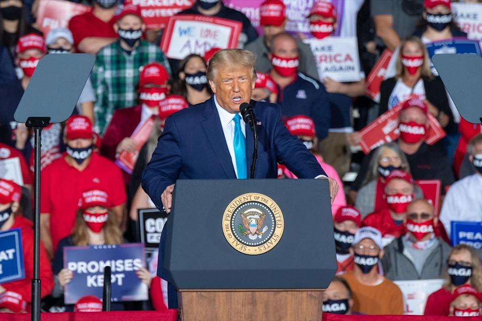 President Donald Trump at rally