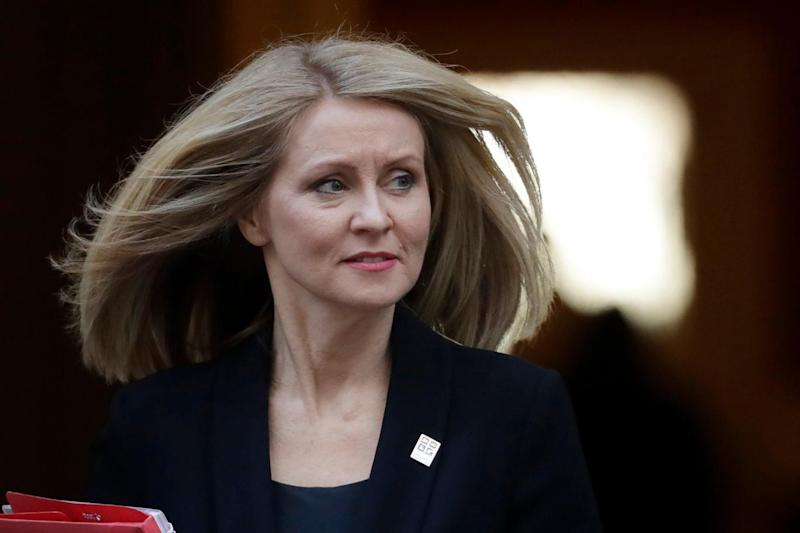 Esther McVey is reportedly on the brink of resigning from the Cabinet (AP)