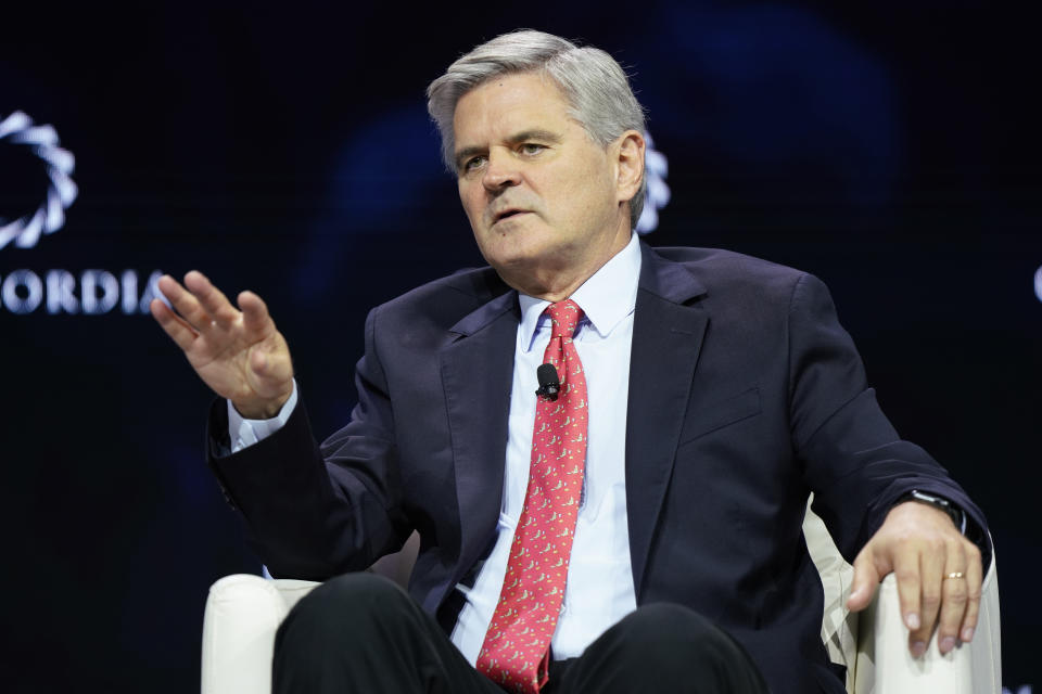 NEW YORK, NEW YORK - SEPTEMBER 24: Steve Case, Chairman & CEO, Revolution, speaks onstage during the 2019 Concordia Annual Summit - Day 2 at Grand Hyatt New York on September 24, 2019 in New York City. (Photo by Riccardo Savi/Getty Images for Concordia Summit)