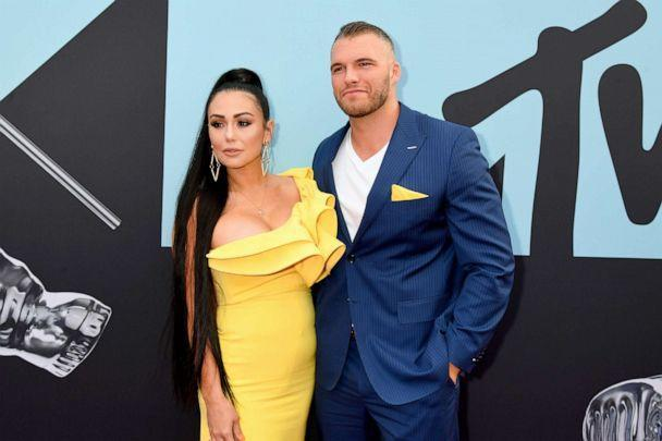 PHOTO: Jennifer Farley and Zack Clayton Carpinello attend the 2019 MTV Video Music Awards at Prudential Center on Aug. 26, 2019, in Newark, N.J. (Dia Dipasupil/Getty Images, FILE)