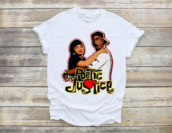 """<h2>Poetic Justice Sublimation T-shirt</h2><br>Justice writing poetry to grieve her loss in this iconic movie was a loyal sentiment to all writers. This t-shirt is perfect for fans of the movie, fans of Janet Jackson, and fans of love poems. <br><br><em>Shop</em> <strong><em><a href=""""https://fave.co/3oarR0U"""" rel=""""nofollow noopener"""" target=""""_blank"""" data-ylk=""""slk:KGCUSTOMDESIGNSSHOPS"""" class=""""link rapid-noclick-resp"""">KGCUSTOMDESIGNSSHOPS</a></em></strong><br><br><strong>KGCUSTOMDESIGNSSHOPS</strong> Poetic Justice Sublimation T-shirt, $, available at <a href=""""https://go.skimresources.com/?id=30283X879131&url=https%3A%2F%2Ffave.co%2F3dIqlho"""" rel=""""nofollow noopener"""" target=""""_blank"""" data-ylk=""""slk:Etsy"""" class=""""link rapid-noclick-resp"""">Etsy</a>"""