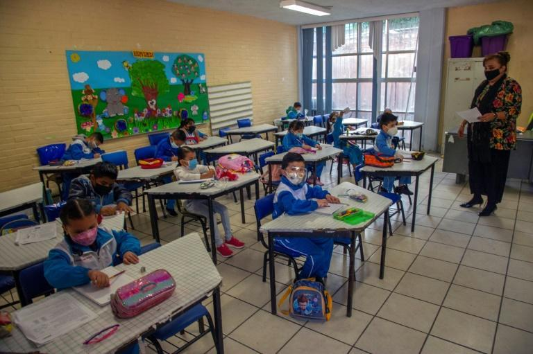 The education ministry said that 1.6 million students went back to classrooms on the first day that they were reopened