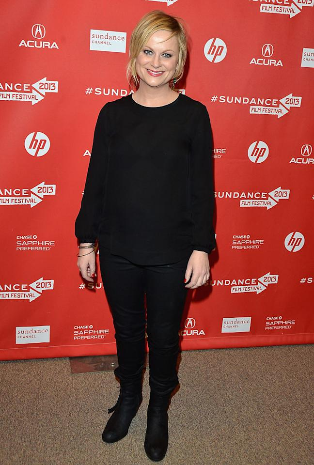 "PARK CITY, UT - JANUARY 23:  Actress Amy Poehler attends the ""A.C.O.D"" Premiere during the 2013 Sundance Film Festival at Eccles Center Theatre on January 23, 2013 in Park City, Utah.  (Photo by George Pimentel/Getty Images)"