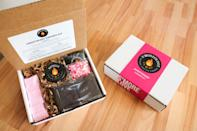 """<p>If you're looking for a different sweet to celebrate Valentine's Day, consider cuddling up and making s'mores. S'moreology has a variety of flavor to choose froms, but if you opt for their Sweetheart S'mores Kit, you won't be disappointed with their amazing strawberry and chocolate combination.</p> <p><strong>$64, <a href=""""https://click.linksynergy.com/deeplink?id=93xLBvPhAeE&mid=44425&murl=https%3A%2F%2Fwww.goldbelly.com%2Fsmoreology%2Fsweetheart-smores-kit&u1=EWSpreadthelovewithEWsValentinesDaygiftguidemorganlLifGal29198614202101I"""" rel=""""nofollow noopener"""" target=""""_blank"""" data-ylk=""""slk:goldbelly.com"""" class=""""link rapid-noclick-resp"""">goldbelly.com</a></strong></p>"""