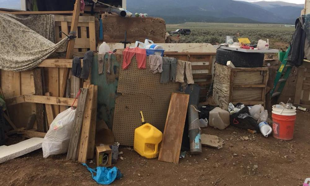 """<span class=""""element-image__caption"""">Conditions at a compound in rural New Mexico where 11 children were taken into protective custody for their own health and safety after a raid by authorities.</span> <span class=""""element-image__credit"""">Photograph: HANDOUT/Reuters</span>"""
