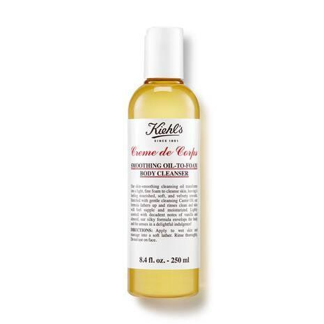 <p>Castor and grape-seed oils are the star ingredients of the <span>Kiehl's Creme de Corps Smoothing Oil to Foam Body Cleanser</span> ($23), a lightly scented formula that cleanses the skin to leave you with a velvety-smooth finish.</p>