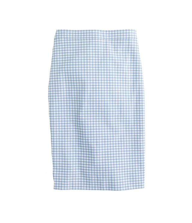 "<p>No.21 pencil skirt in gingham bi-stretch cotton, $88, <a href=""https://www.jcrew.com/p/womens_category/skirts/pencil/no-2-pencil-skirt-in-gingham-bistretch-cotton/G4823"" rel=""nofollow noopener"" target=""_blank"" data-ylk=""slk:jcrew.com"" class=""link rapid-noclick-resp"">jcrew.com</a> </p>"
