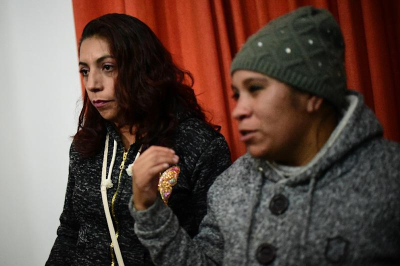 Lupita's aunts Marina Medina (L) and Luz Maria Medina say the little girl long showed signs of abuse and that their sister -- the girl's mother and alleged killer -- gave murky answers after her death